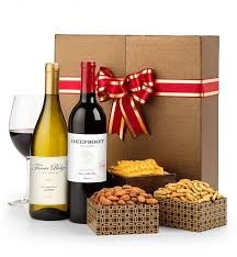 wine gift basket ideas the classic wine duet gift