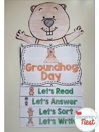 groundhog flip book flip books reading comprehension