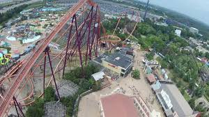 Six Flags In Denver Giant Drop Six Flags Great America Hd Pov Youtube