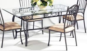 Rectangular Glass Top Dining Tables Glass Kitchen Tables Wrought Iron Kitchen Table Enchanting Glass
