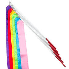 ribbon streamers gogo 6 sets gymnastics ribbon with wand ribbon