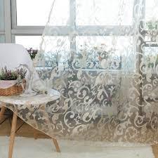 tende in pizzo francese rustico disegno floreale voile voile panno per tende tulle tessuti