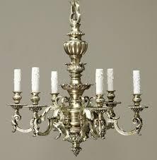 Baroque Chandelier Cast Bronze Baroque Chandelier With Chain Canopy Inessa