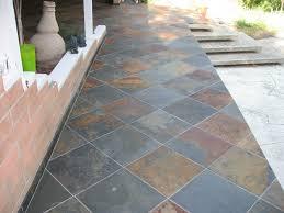 installation of slate tile for backyard patio photo home decor