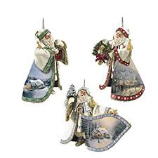 the bradford exchange heirloom santa ornaments by