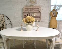 shabby chic dining room tables shabby chic dining table etsy