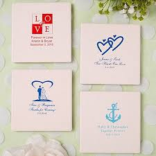 coaster favors custom printed ivory ceramic tile wedding coaster favors