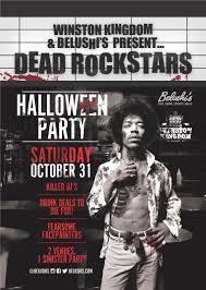 halloween in amsterdam dead rock stars party belushi u0027s bars