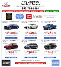 toyota cars for lease toyota specials in auburn ma