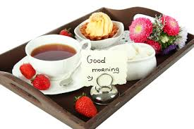 good morning with breakfast