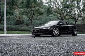 Audi R8 Matte Black - vossen wheels audi r8 vossen cv4