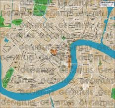 New Orleans District Map by Geoatlas City Maps New Orleans Map City Illustrator Fully