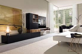 contemporary tv wall unit lacquered walnut modular