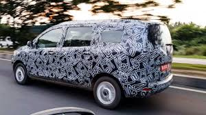 renault lodgy interior mobilio ertiga u0027s rival renault lodgy spied launch in few weeks
