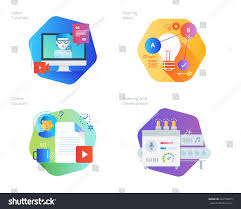 material design ideas material design icons set education video stock vector 662158675
