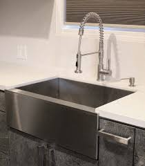 Faucet Sink Kitchen Inch Stainless Steel Single Bowl Flat Front Farm Apron Kitchen Sink