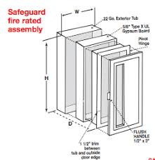 sn sonoma fire extinguisher cabinets rolled steel