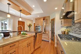 Crystal Kitchen Cabinets Transitional Red Birch Crystal Cabinets
