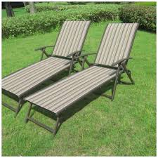 Outdoor Reclining Chairs Patio Outdoor Lounge Chair Set Of 2 Furniture Sling Chaise Pool