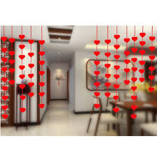 aliexpress com buy 16pcs hanging red heart string valentines day