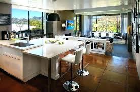 cuisine en l ouverte sur salon cuisine ouverte sur sejour bar separation cuisine bar cuisine salon