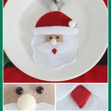 3pcs set santa snowman reindeer christmas cutlery holders fork