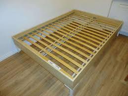Engan Bed Frame Ikea Engan Kingsize 160x200 Bedframe With Luroy Sprung Slats