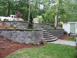 nh landscape design for retaining wall ideas terrace wall steps