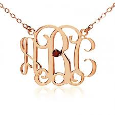 3 Initial Monogram Necklace Sterling Silver 38 Best Ns Jewelry With Birthstone Images On Pinterest Names