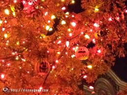 decorated halloween trees close up of the halloween tree in frontierland disneyland u2013 the