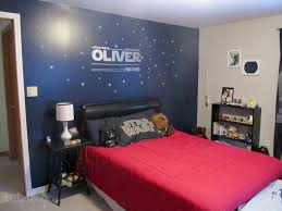 Decorate Bedroom With Tan Walls Star Wars Themed Bedroom Via Little Mudpies One Dark Wall Is Nice