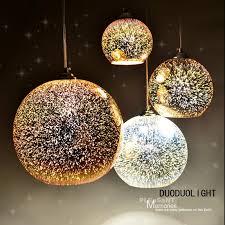 hanging glass pendant lights classic design led l pendant light diameter 20cm 3d colorful