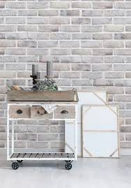 lime washed brick wallpaper by milton u0026 king interior styling