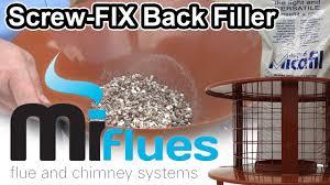 fix back filler simple chimney set up using vermiculite