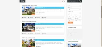 real estate listing template real homes responsive real estate theme review