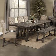 dining room glass top dining table set dark wood round table