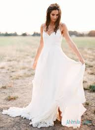 simple wedding dresses for the h1403 simple boho wedding dress with thin straps