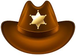 halloween clipart transparent background cowboy hat with sheriff badge transparent png clip art image