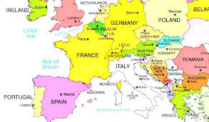 map of europe with country names and capitals political europe map with countries and capitals throughout of