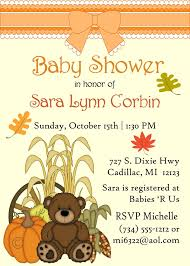 teddy baby shower fall teddy baby shower invitations storkbabygiftbaskets
