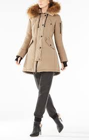 fur hooded long puffer jacket