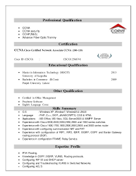 Sample Resume For Hardware And Networking For Fresher Sample Resume For Freshers Hardware And Networking Best Resumes