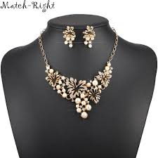 women necklace accessories images Match right women necklace simulated pearl statement necklaces jpg