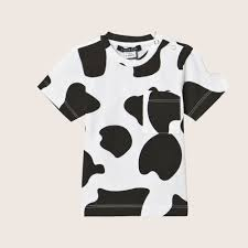 white t shirt with cow print little luwi fancy kids london