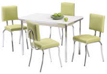 Retro Diner Table And Chair Sets - Kitchen table retro
