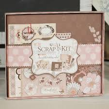scrapbook album kits enogreeting gift scrapbooking kit set to diy kids growing and