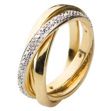 yellow gold wedding rings 18ct yellow gold plated russian wedding ring set with white cz s