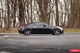 nissan 350z black rims vossen wheels nissan 350z vossen cv3r