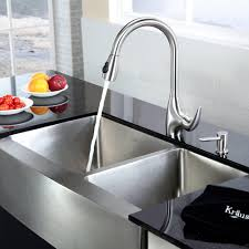 decorating unique graff faucets with stainless steel farmhouse