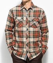 Flannel Shirts Dravus Willis White Gold Flannel Shirt Zumiez